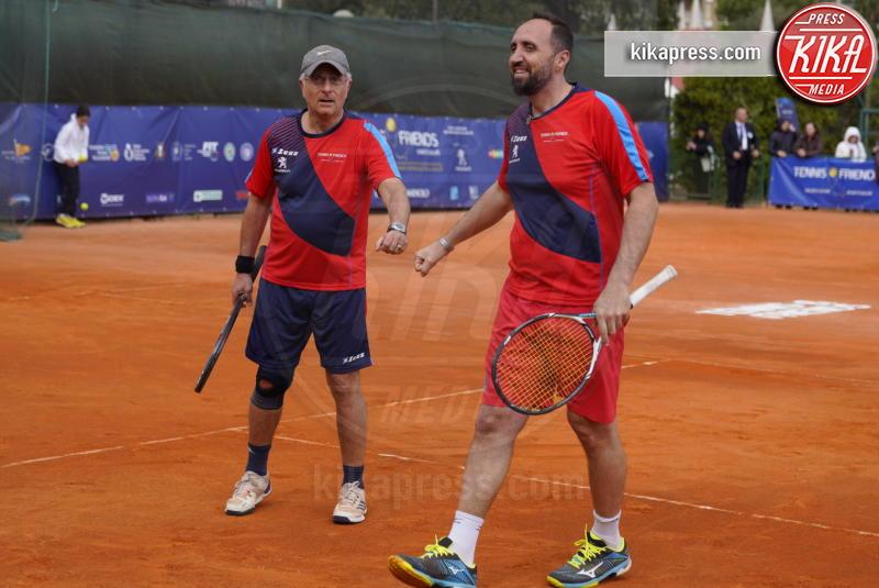 Diego Nargiso, Paolo Bonolis - Napoli - 13-04-2019 - Paolo Bonolis e Jimmy Ghione trionfano a Napoli Tennis & Friends
