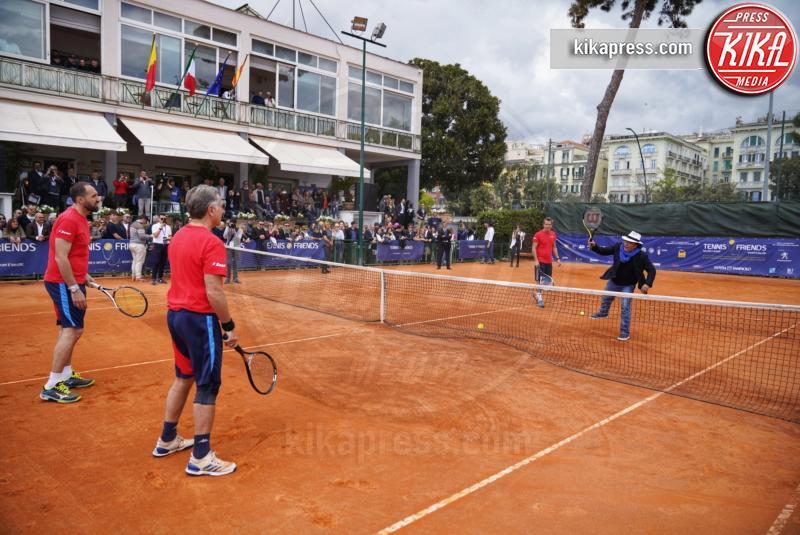 Diego Nargiso, Al Bano, Jimmy Ghione, Paolo Bonolis - Napoli - 14-04-2019 - Paolo Bonolis e Jimmy Ghione trionfano a Napoli Tennis & Friends