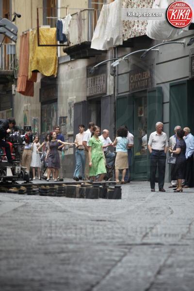 Riprese L'Amica Geniale - Napoli - 03-05-2019 - Ciak si gira: librerie di Port'Alba riaperte per l'Amica Geniale