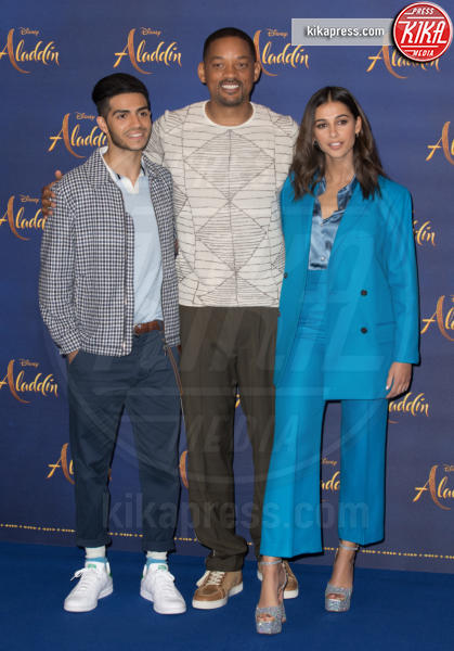 Mena Massoud, Naomi Scott, Will Smith - Londra - 10-05-2019 - Aladdin, Will Smith e Guy Ritchie aprono il tour a Londra