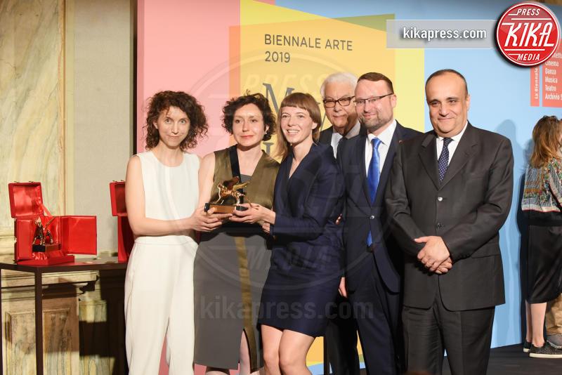 Paolo Bara, Rugile Barzdziukaite, Vaiva Grainyte, Lina Lapelyte - Venezia - 11-05-2019 - Biennale di Venezia, i premiati della 58esima edizione