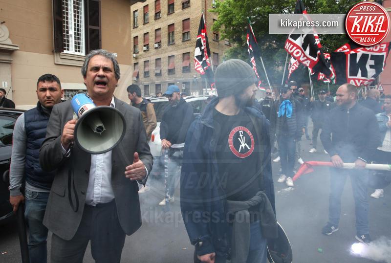 Roberto Fiore, Domenico Lucano - Roma - 13-05-2019 - Mimmo Lucano show alla Sapienza di Roma