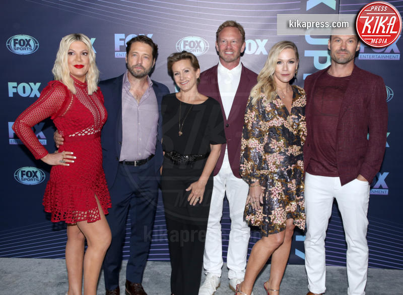 Gabrielle Carteris, Ian Ziering, Tori Spelling, Jason Priestley - New York - 13-05-2019 - Beverly Hills 90210: reunion ufficiale per i palinsesti Fox!