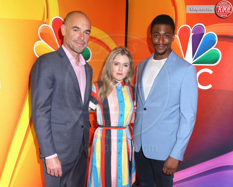 Justin Cornwell, Harriet Dyer, Paul Blackthorne - New York - 13-05-2019 - Rieccola! Tata Francesca alla presentazione dei palinsesti NBC