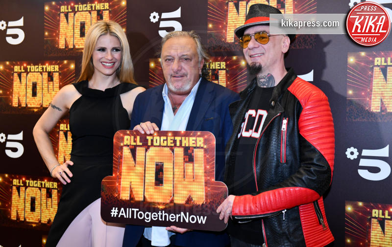 J-Ax, Roberto Cenci, Michelle Hunziker - Milano - 14-05-2019 - Michelle Hunziker e J-Ax, tandem d'attacco per All together now