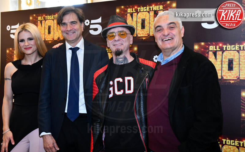 Giancarlo Scheri, J-Ax, Michelle Hunziker - Milano - 14-05-2019 - Michelle Hunziker e J-Ax, tandem d'attacco per All together now