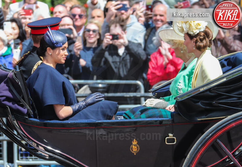 Meghan Markle, Kate Middleton, Camilla Parker Bowles, Principe Harry - Londra - 08-06-2019 - Trooping the colour, è Louis la vera star della festa!