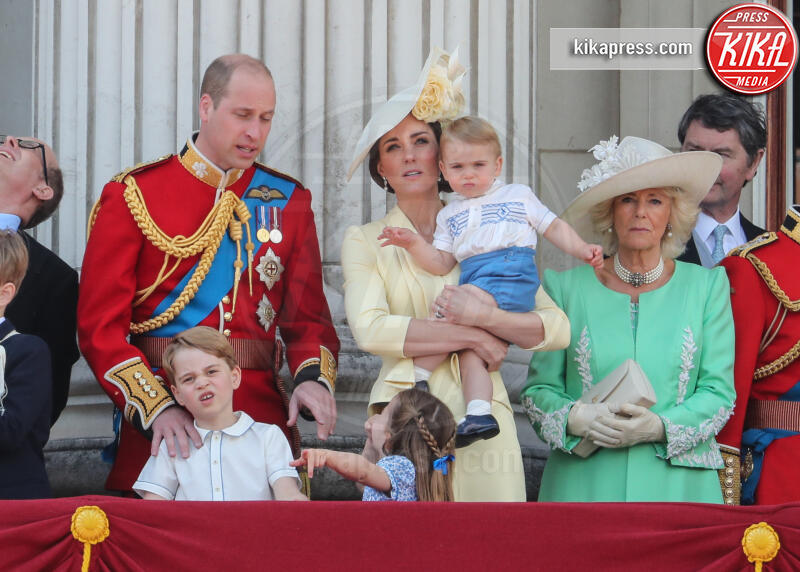 Principe Louis Arthur Charles, Principessa Charlotte Elizabeth Diana, Principe George, Principe William, Kate Middleton, Camilla Parker Bowles - Londra - 08-06-2019 - Trooping the colour, è Louis la vera star della festa!