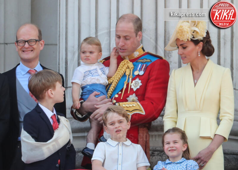 Principe Louis Arthur Charles, Principessa Charlotte Elizabeth Diana, Principe George, Principe William, Kate Middleton - Londra - 08-06-2019 - Trooping the colour, è Louis la vera star della festa!