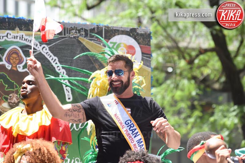 Ricky Martin - New York - 10-06-2019 - Ricky Martin si scatena per la Puerto Rican Day Parade