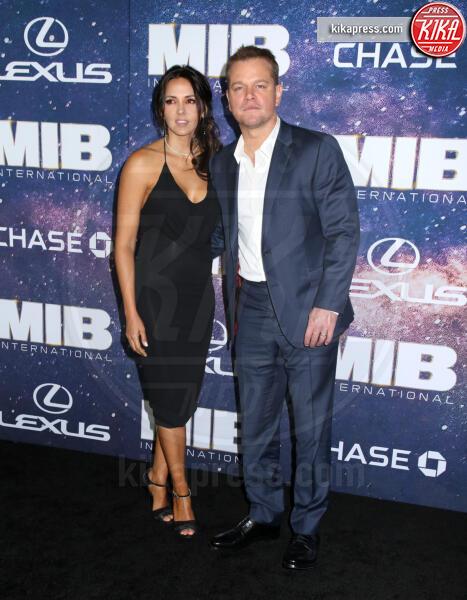 Luciana Barroso, Matt Damon - New York - 11-06-2019 - I Men In Black sono tornati: dal 25 luglio al cinema!