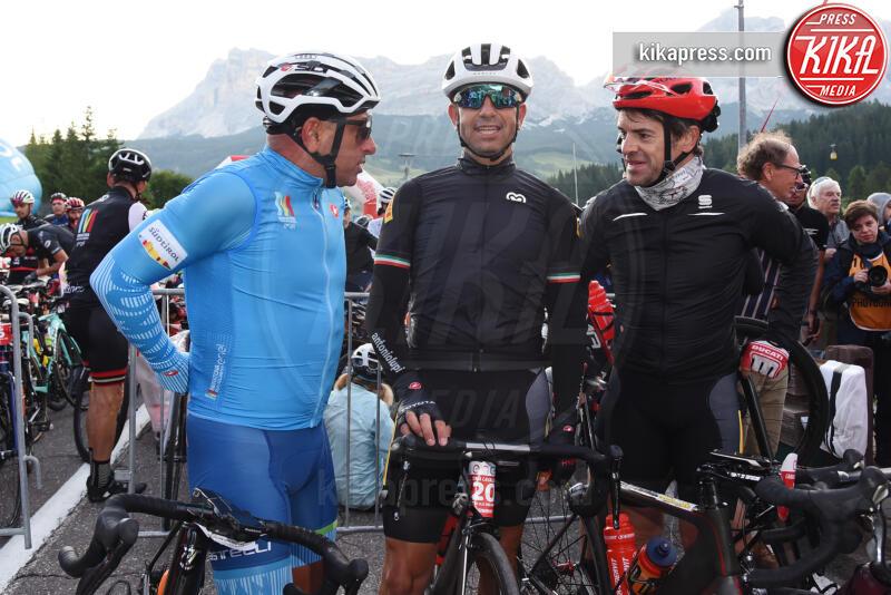 Tobia Cavallini, Carlo Checa, Jury Chechi - Corvara in Badia - 07-07-2019 - Martina Colombari, madrina della Maratona dles Dolomites