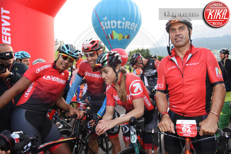 Kristian Ghed, Cristian Zorzi, Sofia Goggia, Federico Pellegrino - Corvara in Badia - 07-07-2019 - Martina Colombari, madrina della Maratona dles Dolomites