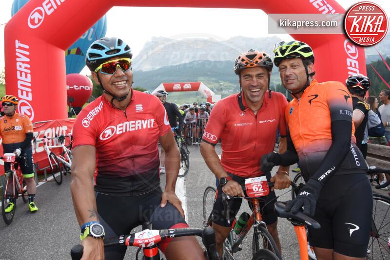 Cristian Zorzi, Fausto Pinarello, Kristian Ghedina - Corvara in Badia - 07-07-2019 - Martina Colombari, madrina della Maratona dles Dolomites