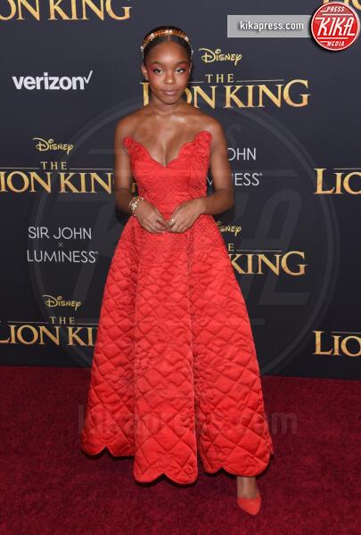 Marsai Martin - Hollywood - 09-07-2019 - Regina Beyoncé sul red carpet del Re Leone