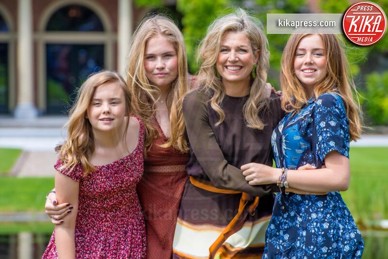 Principessa Amalia Orange-Nassau, Regina Maxima d'Olanda, Alexia Orange-Nassau, principessa Ariane - The Hague - 19-07-2019 - Principesse adolescenti sui troni d'Europa: le riconoscete?
