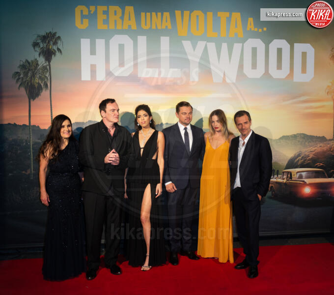 Shannon McIntosh, Daniela Pick, Quentin Tarantino, Leonardo DiCaprio - Roma - 03-08-2019 - Roma ai piedi di Tarantino e Once Upon a Time… in Hollywood