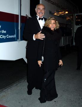Micheline Connery, Sean Connery - New York - 11-11-2004 - Sean Connery inaugura La Festa Internazionale del Cinema di Roma