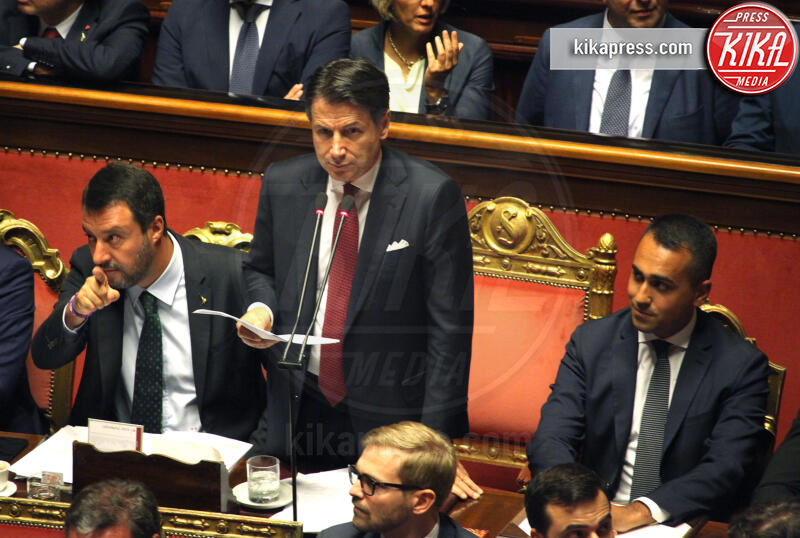Giuseppe Conte, Luigi Di Maio, Matteo Salvini - Roma - 20-08-2019 - Addio 2019, le immagini simbolo dell'anno