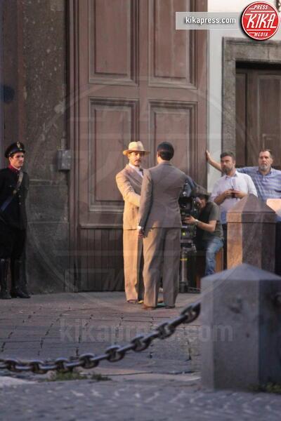Set Commissario Ricciardi, Esterni, Set - Napoli - 10-09-2019 - Lino Guanciale sul set del Commissario Ricciardi