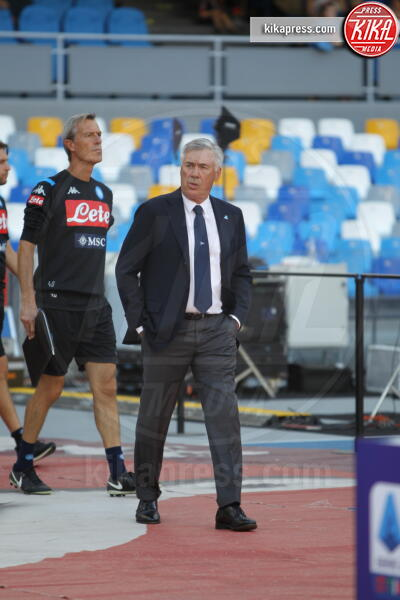 Carlo Ancelotti - Napoli - 14-09-2019 - Napoli Samp 2 a 0: Mertens stende i blucerchiati