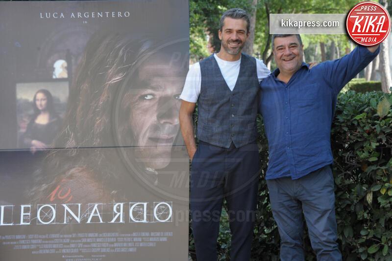 Francesco Pannofino, Luca Argentero - Roma - 18-09-2019 - Luca Argentero diventa Leonardo da Vinci per Sky