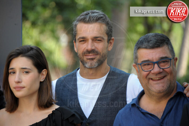 Angela Fontana, Francesco Pannofino, Luca Argentero - Roma - 18-09-2019 - Luca Argentero diventa Leonardo da Vinci per Sky