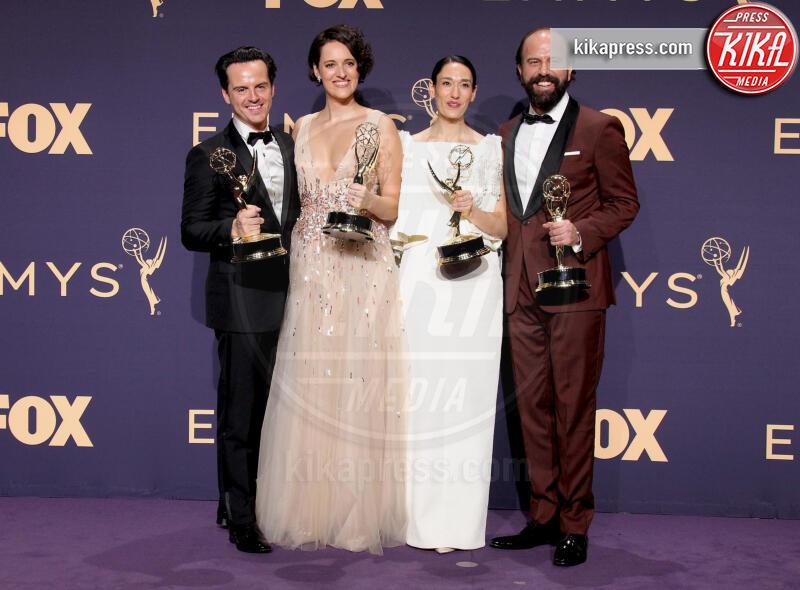 Emmy Winners for Outstanding Comedy Series for 'Fleabag', Brett Galman, Sian Clifford, Phoebe Waller-Bridge, Andrew Scott - Los Angeles - 22-09-2019 - Emmy 2019: trionfano Fleabag, Game of Thrones e Chernobyl