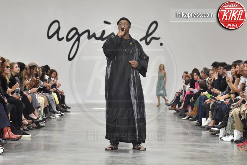 Oxmo Puccino, Sfilata Agnes B - Parigi - 30-09-2019 - Parigi Fashion Week: la sfilata di Agnes B.