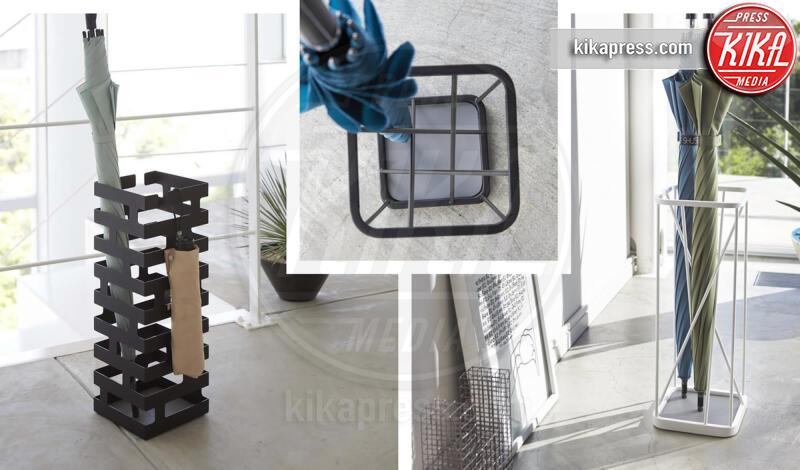 Portaombrelli Brick quadrato e Squares - Milano - 04-10-2019 - I portaombrelli di design per unire praticità e stile
