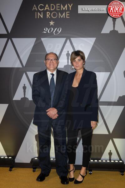 Giulia Verdone, Carlo Verdone - Roma - 09-10-2019 - Oscar: l'Academy celebra Servillo, Giannini, Garrone e Verdone