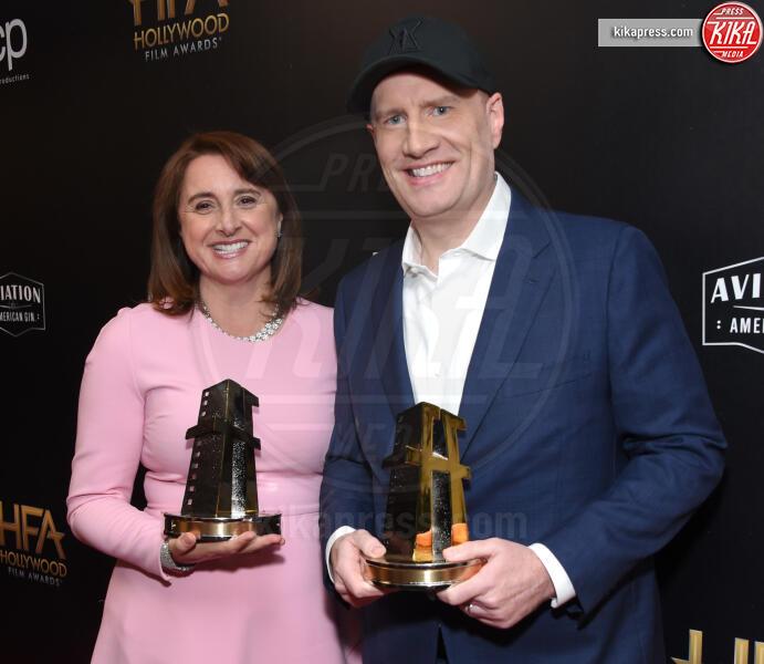 Victoria Alonso, Kevin Feige - Beverly Hills - 03-11-2019 - Antonio Banderas, agli Hollywood Film Awards con la sua Stella