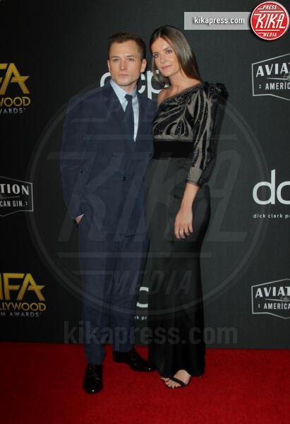 Emily Thomas, Taron Egerton - Los Angeles - 03-11-2019 - Antonio Banderas, agli Hollywood Film Awards con la sua Stella