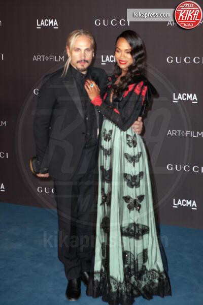Marco Perego, Zoe Saldana - Los Angeles - 02-11-2019 - Lacma Art + film gala: il debutto della coppia Reeves-Grant