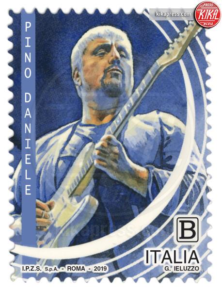 Francobollo Pino Daniele - Roma - Lucio Dalla, Pino Daniele e Giorgio Gaber sui francobolli