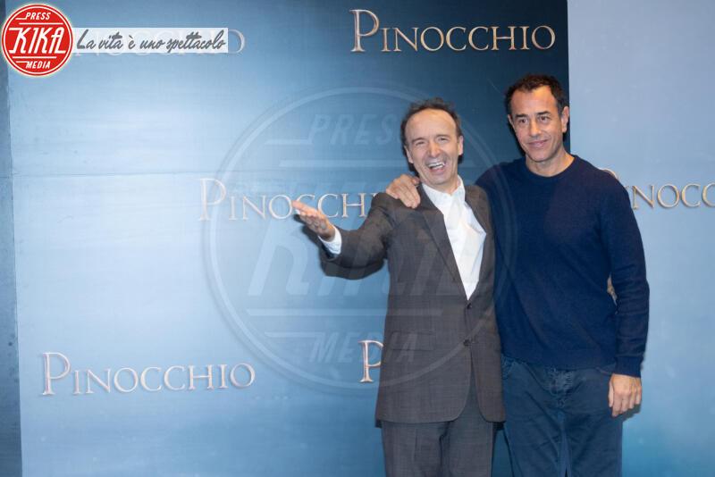 Matteo Garrone, Roberto Benigni - Roma - 12-12-2019 - Roberto Benigni e Matteo Garrone, è il momento di Pinocchio