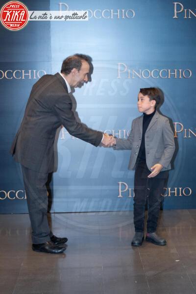 Federico Ielapi, Roberto Benigni - Roma - 12-12-2019 - Roberto Benigni e Matteo Garrone, è il momento di Pinocchio