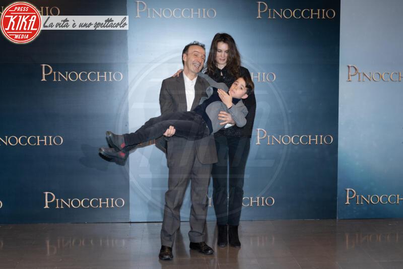 Federico Ielapi, Marine Vacth, Roberto Benigni - Roma - 12-12-2019 - Roberto Benigni e Matteo Garrone, è il momento di Pinocchio