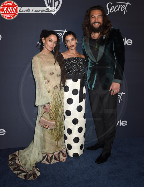 Jason Momoa, Lisa Bonet, Zoe Kravitz - Beverly Hills - 05-01-2020 - Golden Globes 2020: al party InStyle, Paris è trasparente!