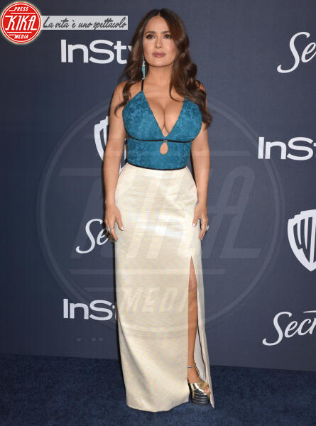 Salma Hayek - Beverly Hills - 05-01-2020 - Golden Globes 2020: al party InStyle, Paris è trasparente!