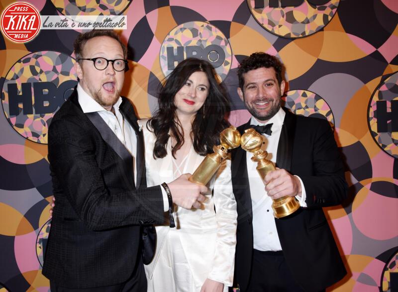 Sarah Hammond, Joe Lewis, Harry Williams - Beverly Hills - 05-01-2020 - Golden Globes 2020, Helen Mirren signora in rosso al party HBO