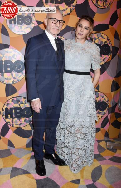 Sir Patrick Stewart, Sunny Ozell - Beverly Hills - 05-01-2020 - Golden Globes 2020, Helen Mirren signora in rosso al party HBO