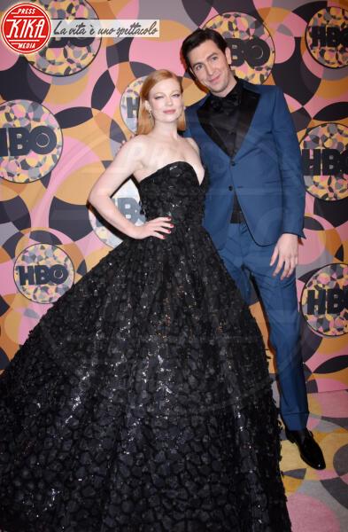 Sarah Snook, Nicholas Braun - Beverly Hills - 05-01-2020 - Golden Globes 2020, Helen Mirren signora in rosso al party HBO