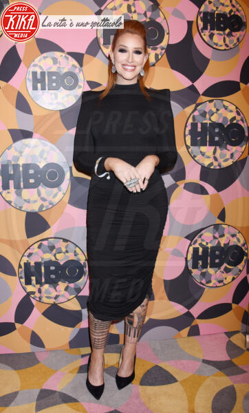 Our Lady J - Beverly Hills - 05-01-2020 - Golden Globes 2020, Helen Mirren signora in rosso al party HBO