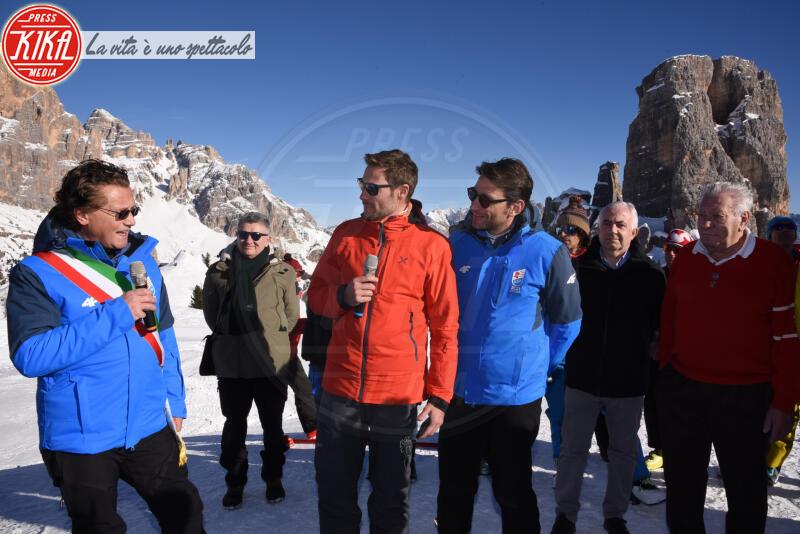 Luigi Santandrea, Gianpietro Ghedina, Massimiliano Ossini - Cortina - 12-01-2020 - Cortina, inaugurato il nuovo tracciato Lino Lacedelli