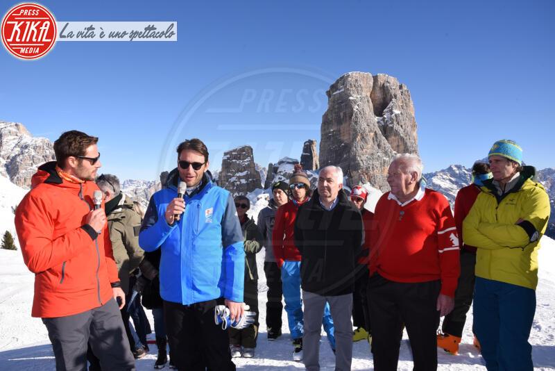 Luigi Santandrea, Massimiliano Ossini - Cortina - 12-01-2020 - Cortina, inaugurato il nuovo tracciato Lino Lacedelli