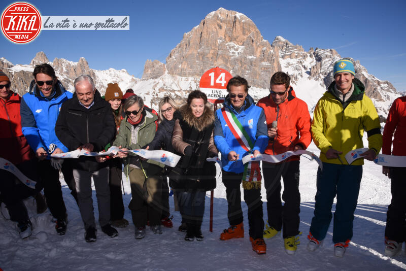ALESS, Luigi Santandrea, Gianpietro Ghedina, Massimiliano Ossini - Cortina - 12-01-2020 - Cortina, inaugurato il nuovo tracciato Lino Lacedelli