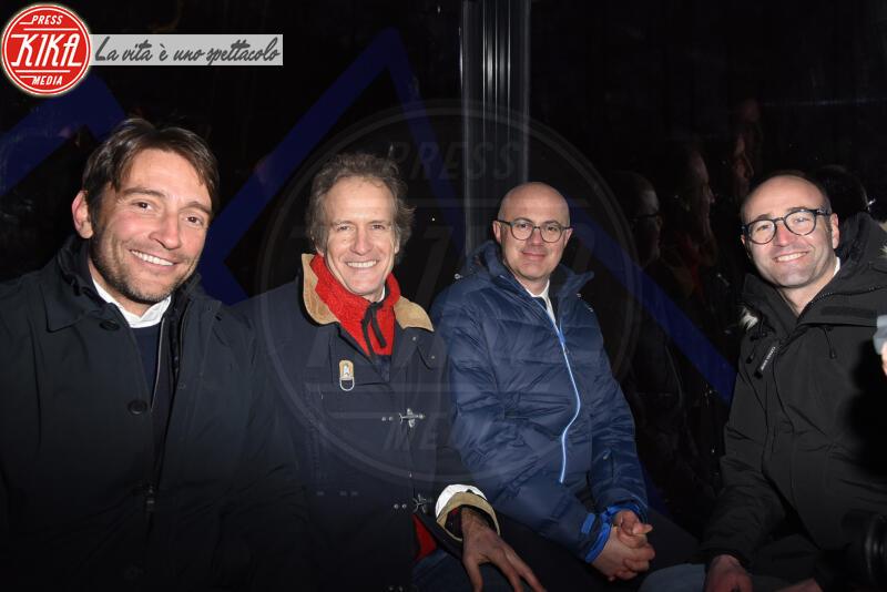 FEDERICO D INCA, Luigi Santandrea, Alessandro Benetton - Cortina - 12-01-2020 - Cortina, inaugurato il nuovo tracciato Lino Lacedelli