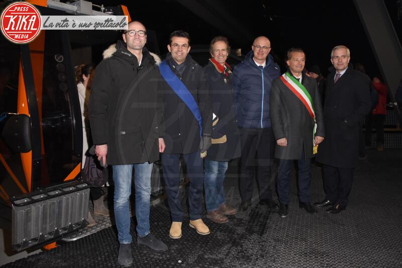 FEDERICO D INCA, Gianpietro Ghedina, Alessandro Benetton - Cortina - 12-01-2020 - Cortina, inaugurato il nuovo tracciato Lino Lacedelli