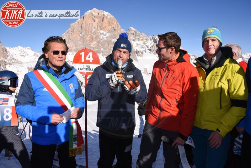 ALESS, Gianpietro Ghedina, Kristian Ghedina, Massimiliano Ossini - Cortina - 12-01-2020 - Cortina, inaugurato il nuovo tracciato Lino Lacedelli